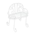Металл KB3135 стул 8,7*4*7,5 см белый 7717638