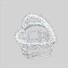 Декор 7717986 Металл 1204 корзинка в форме сердца 4,5*6,5 см белый