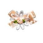 Цветы пришивные 1-58/1 персиковый