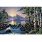Алмазная мозаика АЖ-1500 «Над быстрой рекой»