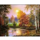 Алмазная мозаика АЖ-1687  «Осенние сумерки» 40*50 см
