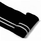 Подвяз трикотажный п/эTBY73023 черный с серебрянными полосами 6*80см