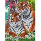 Набор для вышивания бисером Паутинка Б-1469 «Тигры» 28*38 см