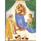 Рисунок для вышивания бисером Каролинка КБЛ-3035 «Сикстинская Мадонна» 26,5*35,5 см