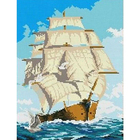 Рисунок для вышивания бисером Каролинка КБП-3011 «Парусник» 28*36 см