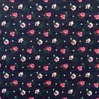 Ткань 48*48 см Джинс FD «Цветок-5» КЛ.26005 40%-п/э, 60%-х/б цв. синий/красн