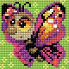 Алмазная мозаика Риолис АМ0022 «Бабочка» 10*10 см