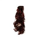 Волосы для кукол (трессы) кудри 2294349 В-50 см L-40 см №6А каштан