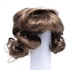 Волосы для кукол AS16-20 5*10  см парик (кудри) коричневый