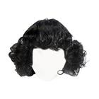 Волосы для кукол AS16-20 5*10  см парик (кудри) черный
