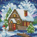 Алмазная мозаика АЖ-1566 «Зимний домик»