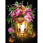 Алмазная мозаика АЖ-1723  «Фонарь в шиповнике»