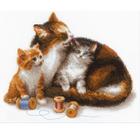 Набор для вышивания Риолис №1811 «Кошка с котятами»
