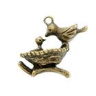 Подвеска SCB24001022 «Птичка в гнезде »уп.3 шт. 583165 1,5*2 см бронза