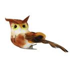 Птички ТВ15142 Совы с клипсой  оранжевый 8 см 7717081