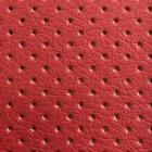 Кожа искусственная 20*30 см КЛ.24874 перфорированная  цв.красный  (уп 2 листа)