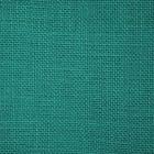 Ткань 50*50 см «Рогожка» 100% лен 24334 зеленая бирюза  580818