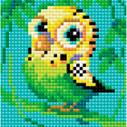 Алмазная мозаика Риолис АМ0021«Попугай» 10*10 см