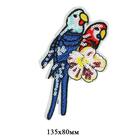 Термоаппликация с пайетками 33022236 «Попугаи» 13.5*8 см