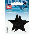 Термоаппликация 923156 «Звезды» Prym черный  (уп 2 шт) 7715576