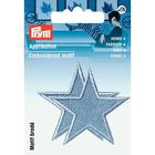 Термоаппликация 923157 «Звезды» Prym джинс.голубой  (уп 2 шт) 715577