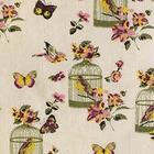 Ткань 48*48 см декоративная  «Птицы в клетке» 7719767