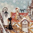 Алмазная мозаика Риолис АМ0010 «Город и кошки. Зима» 20*20 см