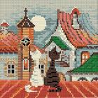 Алмазная мозаика Риолис АМ0011 «Город и кошки. Весна» 20*20 см