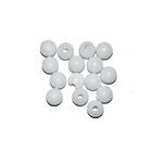 Бусины пластм.  5-6 мм (уп. 10 г) 001 белый матовый