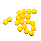 Бусины пластм.  5-6 мм (уп. 10 г) 007 жёлтый матовый