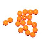 Бусины пластм.  5-6 мм (уп. 10 г) 008 оранжевый матовый