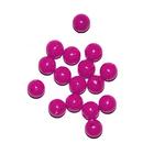 Бусины пластм.  5-6 мм (уп. 10 г) 003 малиновый матовый