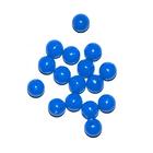Бусины пластм.  5-6 мм (уп. 10 г) 015 т.голубой матовый