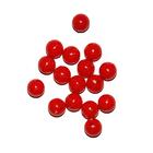 Бусины пластм.  8 мм (уп. 10 г) 004 красный матовый