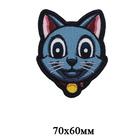 Термоаппликация HP 7724477 «Кот с медалью» 7*6 см