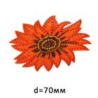 Термоаппликация BA1039 «Оранжевый цветок» 7718096