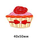 Термоаппликация BA1046 «Пироженое с розочкой» 7718126