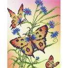 Рисунок для вышивания бисером Каролинка КББ-4005  «Бабочки и васильки»А4