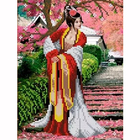 Рисунок для вышивания бисером Каролинка КБЛ-4010 «Японский сад» А4