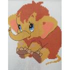 Набор для вышивания Гелиос № 01 «Мамонтенок» 18*20 см
