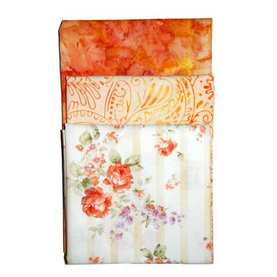 Ткань 55*55 см для печворка PST-2 (3 шт) 087 «Роза оранж» в интернет-магазине Швейпрофи.рф