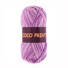Пряжа Коко принт,(Coco Vita Print) 50 г / 240 м 4670 бел-сирен.