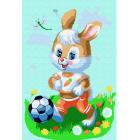 Картина по номерам Molly KH0493  «Зайчонок-футболист»  20*30 см