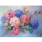 Набор для раскрашивания Molly КН0766 (KH0240)  «Гортензии с розами» 15*20 см