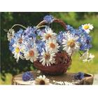 Набор для раскрашивания Molly KH0246  «Корзина полевых цветов» 15*20 см