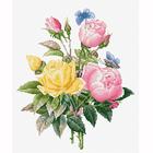 Набор для вышивания Luca-S ВU4003 «Жёлтые розы и бенгальские розы»