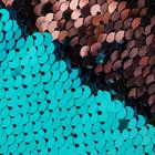 Ткань 33*33 см декоративная 3891580 «Голубая и розовая» пайетки двухсторон.