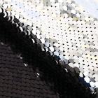 Ткань 33*33 см декоративная 3891588 «Черно-серебрянный» пайетки