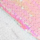 Ткань 33*33 см декоративная 3891589 «Бело-розовый» пайетки