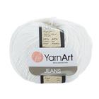 Пряжа Джинс (YarnArt Jeans), 50 г / 160 м,  01 белый